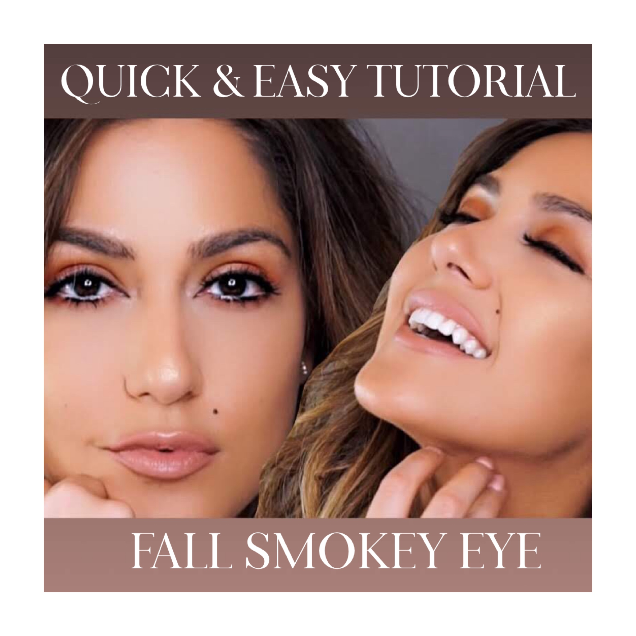 QUICK & EASY FALL SMOKEY EYE FOR FALL